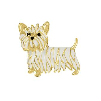 Eternal Collection Walter The Westie Enamelled Gold Tone Costume Brooch