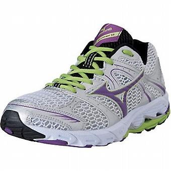 Wave Alchemy 12 carretera zapatillas plata/PurpleMagic/Lime Punch mujeres