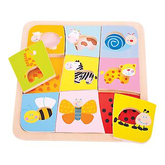 Bigjigs Toys Wooden Animal Patterns Picture Puzzle