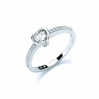 Cavendish French True Love Heart Solitaire Ring