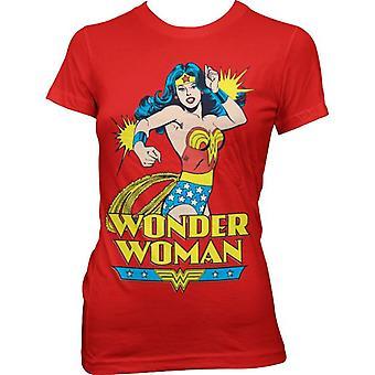 Komische stijl vrouwen Wonder Woman Red T-shirt