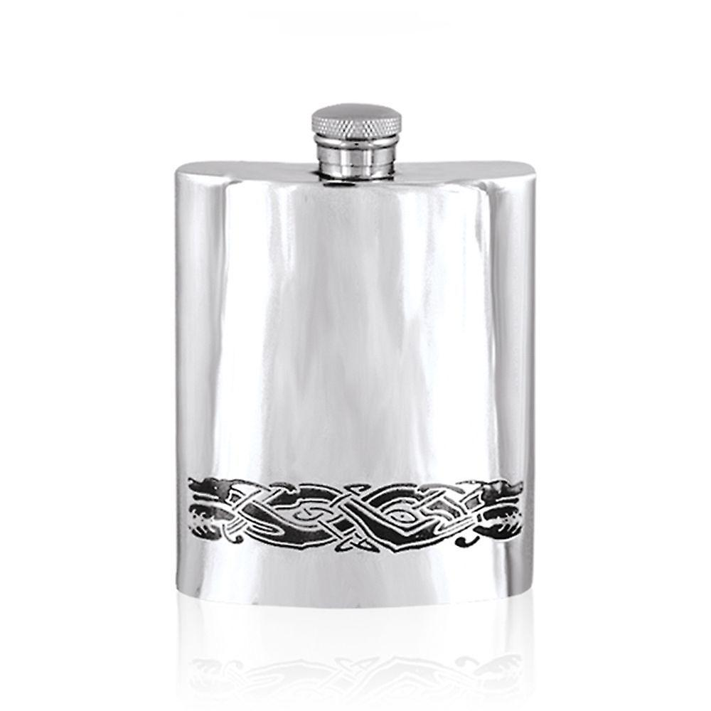6oz Celtic Flask Pewter - Cel523