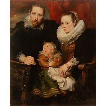 Familiegruppe, Anthony Van Dyck, 50x40cm