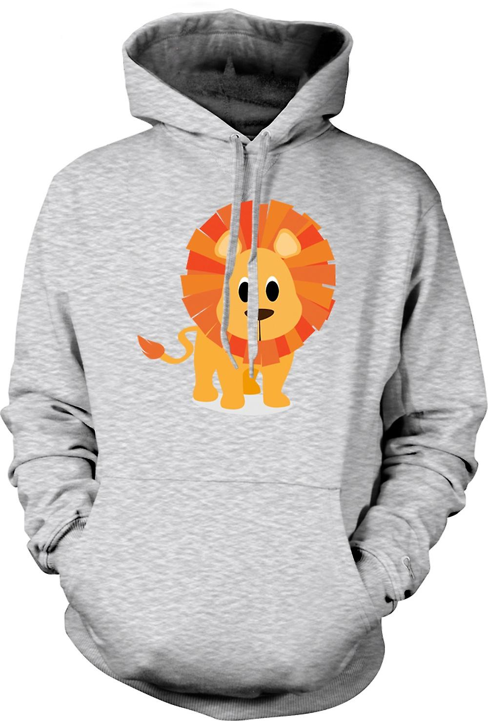 Mens Hoodie - I Love Lions - Cute Animal