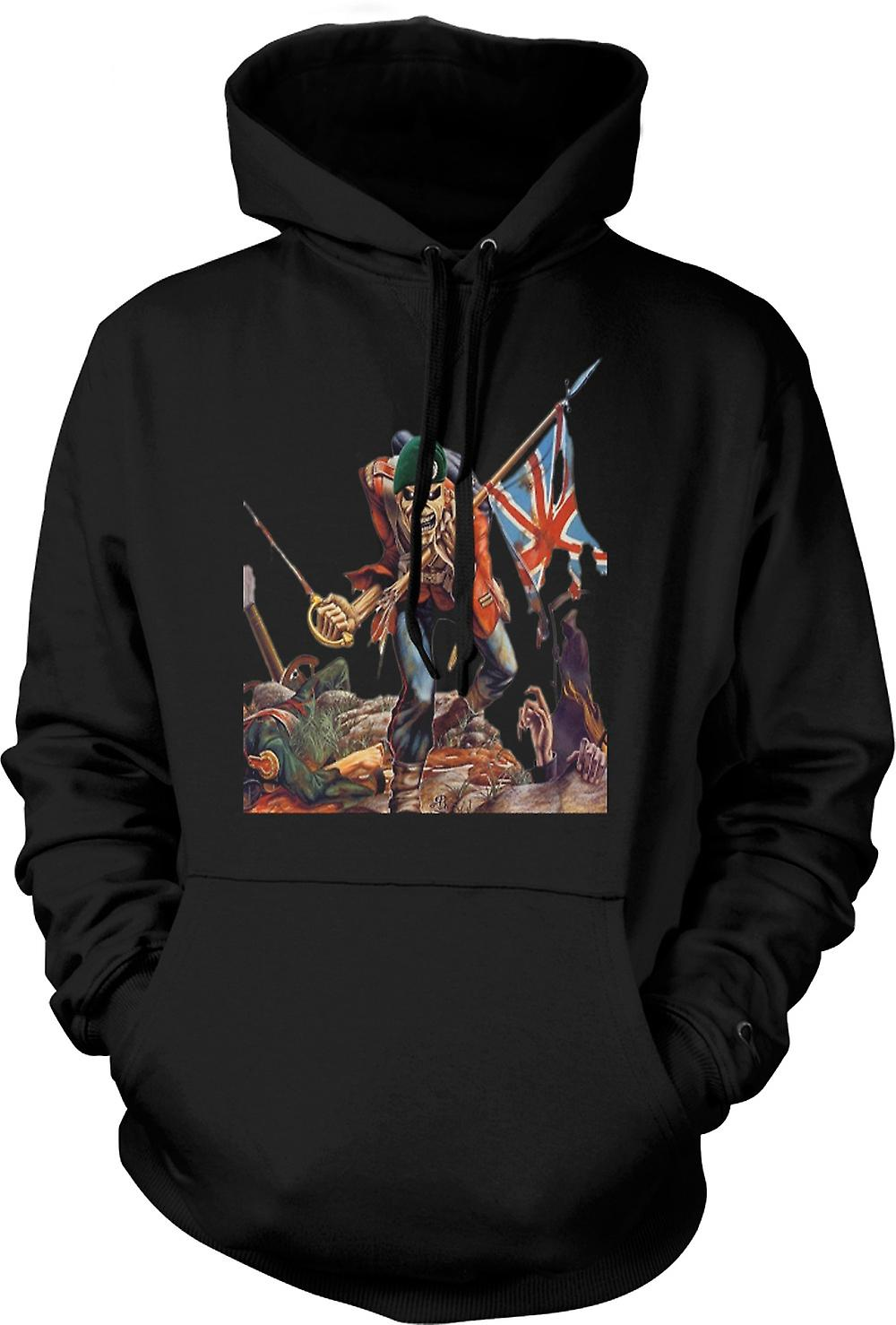Mens Hoodie - The Trooper - Royal Marine Eddie