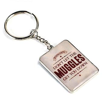 Harry Potter Keyring dont let Muggles get you down new Official Metal Keychain