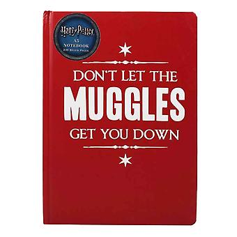 Harry Potter Notebook Dont Let The Muggles Get You Down new Official Red A5
