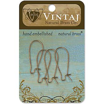 Vintaj Metal Ear Wires 4 Pkg Arched 26X11mm Er0002r