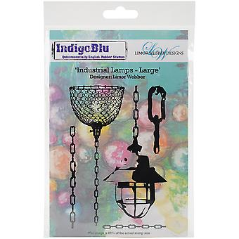 IndigoBlu Cling Mounted Stamp-Industrial Lamps - Large IND0138