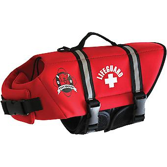 Paws Aboard Neoprene Doggy Life Jacket Extra Small-Red NEOXS-R1200
