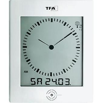 Radio reloj de pared TFA 60,4506 220 x 265 mm x 31 mm plata