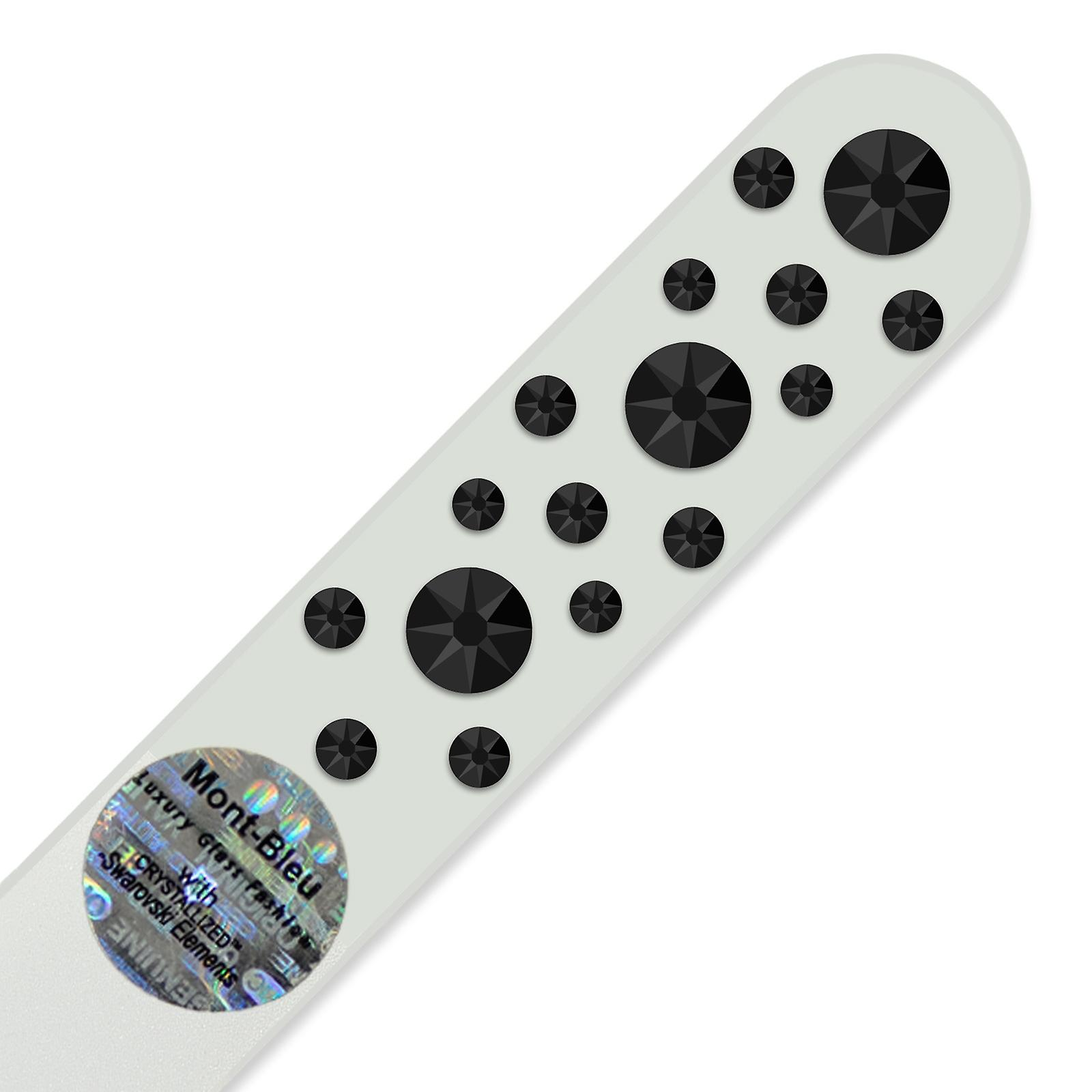 Glass nail file with Swarovski crystals CNW-M1-7