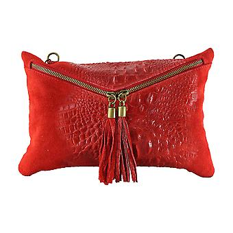 CTM Pocket square leather shoulder handbag woman, made in Italy