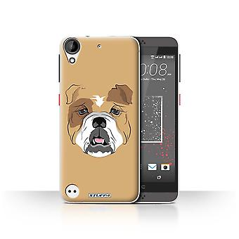 STUFF4 Case/Cover for HTC Desire 630/Dog/Bulldog/Animal Faces