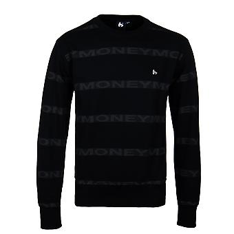 Money Black Repeat Crew Neck Sweatshirt
