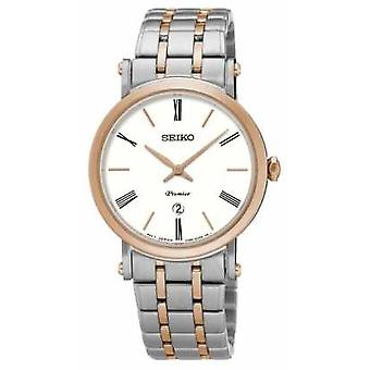 Seiko Premier Womens Two Tone Sapphire Glass SXB430P1 Watch