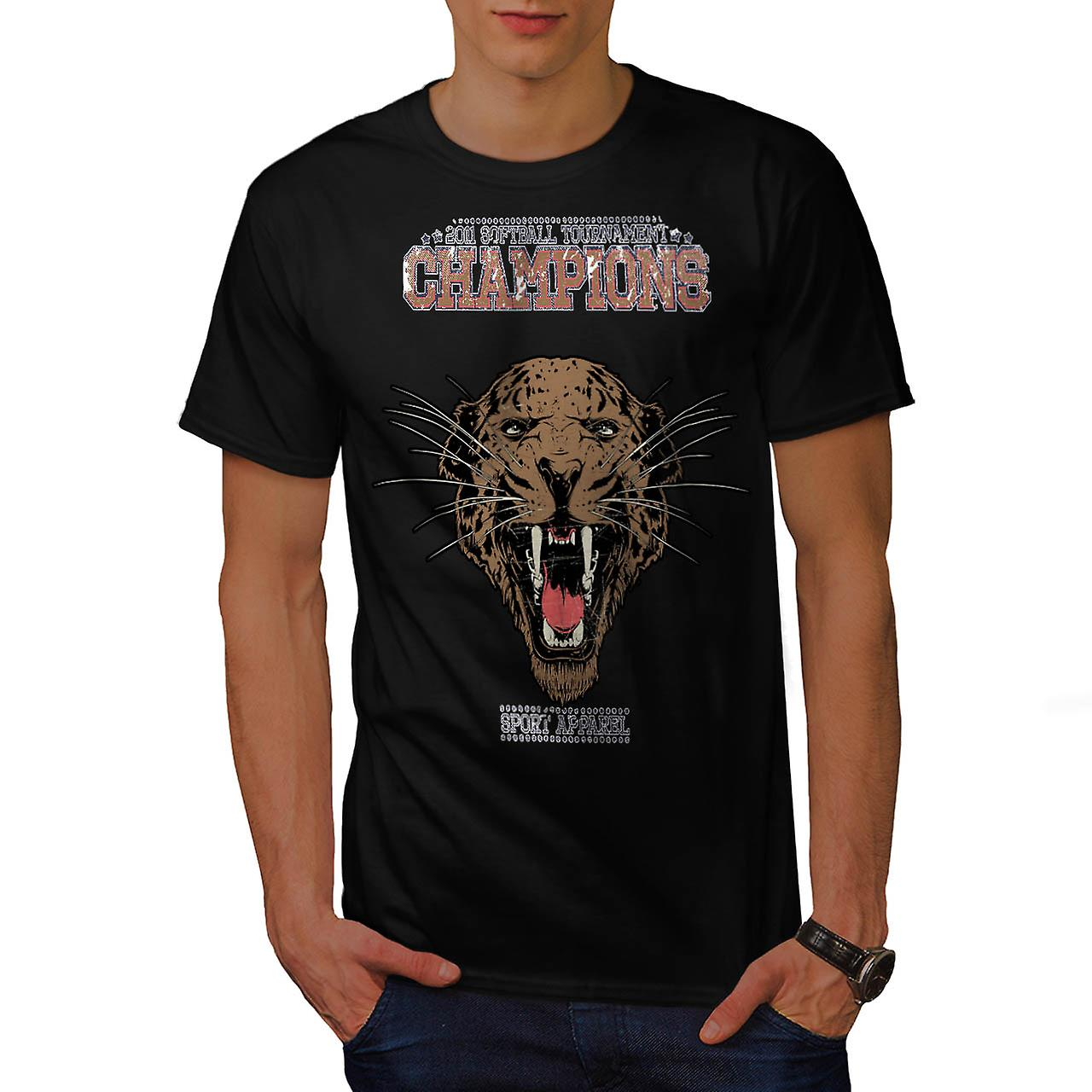 Cougar Sports Team Champions Men Black T-shirt | Wellcoda