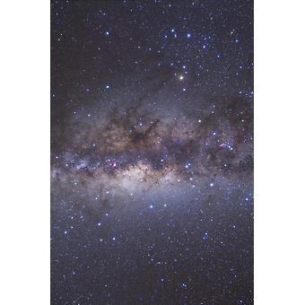 I mitten av Vintergatan genom skytten och Skorpionen affisch Skriv