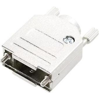 D-SUB housing Number of pins: 15 Metal 180 ° Silver MH Connectors MHDTZK-N-15-RA-K 1 pc(s)