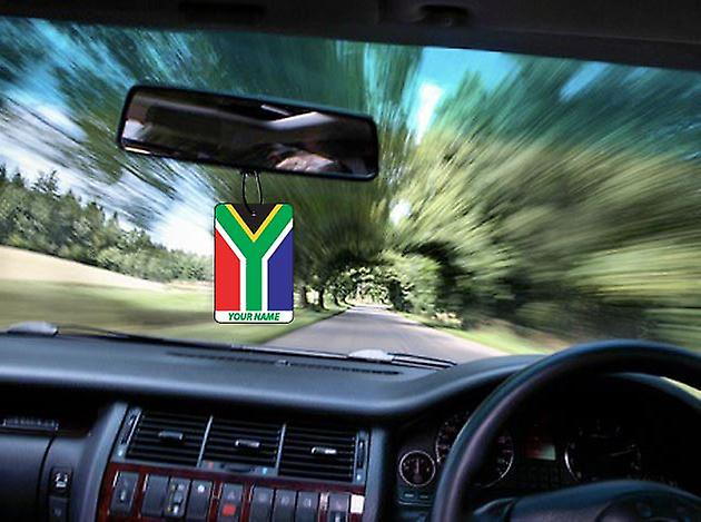 South Africa Flag Personalised Car Air Freshener