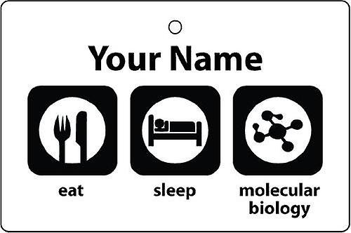 Personalised Eat Sleep Molecular Biology Car Air Freshener