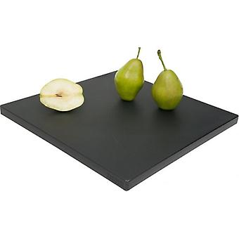 POLYETHYLENE HEAVY DUTY SQUARE CUTTING CHOPPING BOARD BLACK 35x35CM