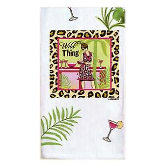 Girls Night Out Party Girls Wild Thing Animal Print Flour Sack Towel