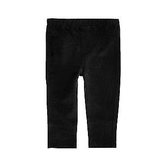 Ex River Island Mini Girls Faux-Suede Leggings