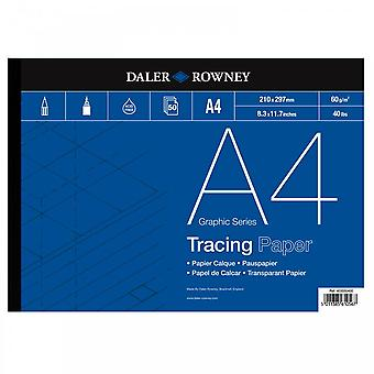 Daler Rowney Tracing gummiert Pad 60gsm A4 *