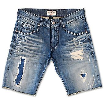 Klinknagel De Cru Polar blauw Denim Shorts