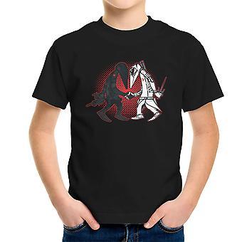 Ninja Vs Ninja Snake Eyes Vs Storm Shadow Spy Vs Spy GI Joe Kid's T-Shirt