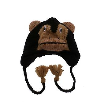 W.A.T Knitted Woollen Chimpanzee  Animal Hat