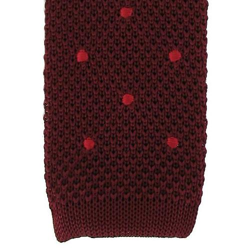 Michelsons of London Spot Design Tie - Wine/Red