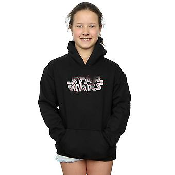 Star Wars Girls The Last Jedi Spray Logo Hoodie