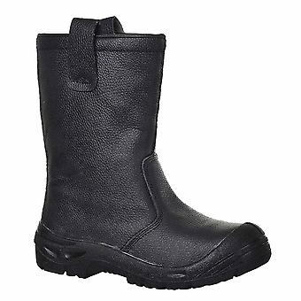 Portwest - Steelite Rigger Workwear Ankle Safety Boot Scuff Cap S3 CI
