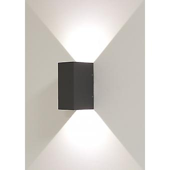 Effect light, wall light, beam 5, 2 x 3 W LED, beam angle 0-90 degrees, dark grey