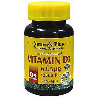 Natures Plus VITAMIN D3 2500 IU SOFTGELS 90