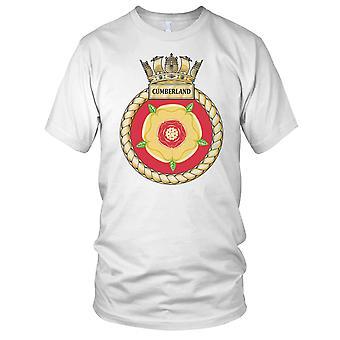 Royal Navy HMS Cumberland Mens T Shirt