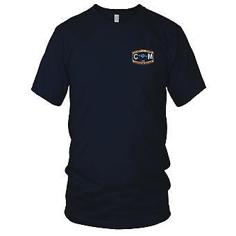 US Navy CM Bau Mechaniker Rating gestickt Patch - Seabee-Herren-T-Shirt