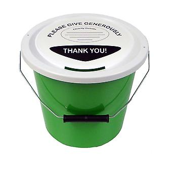 10 Charity Money Collection Buckets 5 Litres - Green