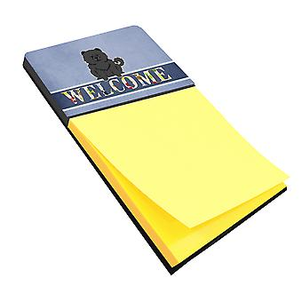 Carolines Treasures  BB5724SN Chow Chow Black Welcome Sticky Note Holder