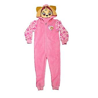 Paw Patrol Skye All In One Pink Girls Sleepsuit Loungewear With Zip & Hood