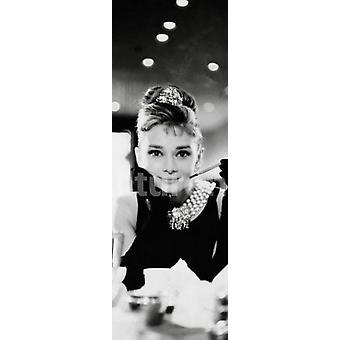 Audrey Hepburn - Breakfast At Tiffanys Table - Door Poster Poster Print