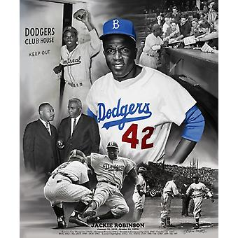 Jackie Robinson Poster Print by Wishum Gregory (20 x 24)