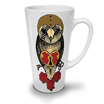 Heart Retro Cool NEW White Tea Coffee Ceramic Latte Mug 17 oz | Wellcoda