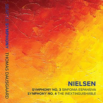 Nielsen / Dausgaard / Seattle Symphony - symfonier 3 & 4 [CD] USA import