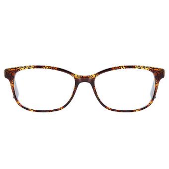 SWAROVSKI ladies rectangular spectacle frame Brown