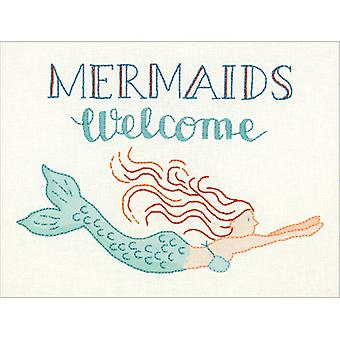 Cathy Heck Mermaids Welcome Embroidery Kit-12