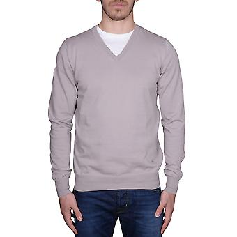 Fay NMMC1342520OGEB011 beige/grey mens cotton sweater