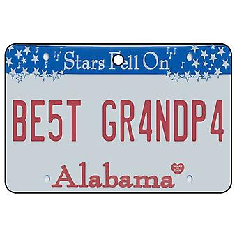 Alabama - Best Grandpa License Plate Car Air Freshener